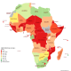 The number of people per radiotherapy machine per African country
